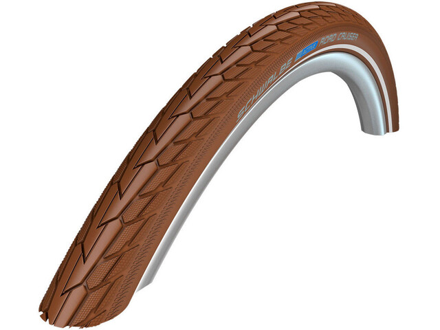 "SCHWALBE Road Cruiser Bike Tyre 26"" K-Guard Active Reflex brown"